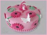 Blumentorte (rosa)