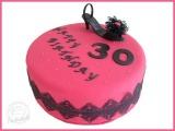 Schuh-Pink-Torte