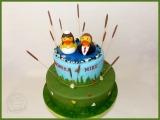 Hochzeitstorte Enten Teich