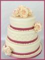 Hochzeitstorte Rosen weiß