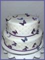 Hochzeitstorte Schmetterlinge lila