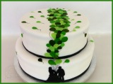 Hochzeitstorte Silhouette Luftballons grün