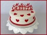Hochzeitstorte rot Herz