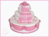 Hochzeitstorte (rosa)