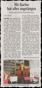 Am 12. April 2013 berichtete das Göttinger Tageblatt über meinen neuen Tortendeko-Shop