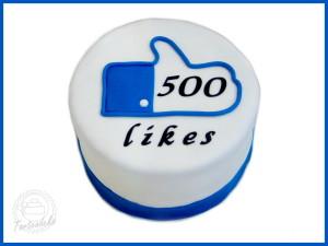 500 Facebook Likes Torte